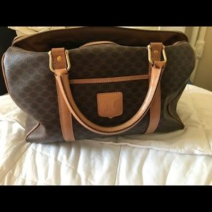 Celine 100% Authentic Macadam PVC Doctor Bag